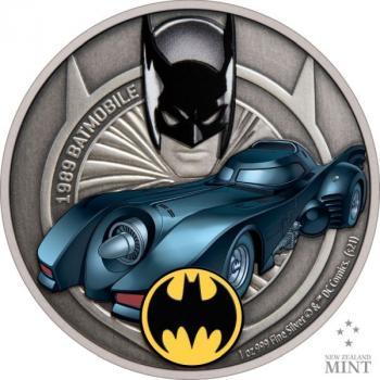 Niue 1989 Batmobil™DC Comics™ 1 Oz Silver 2021 (2.) Silber
