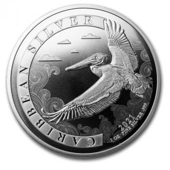 Barbados 1 $ Dollar Caribean Pelican Silver 1 Oz karibischer Pelikan Silber 2021BU (2)