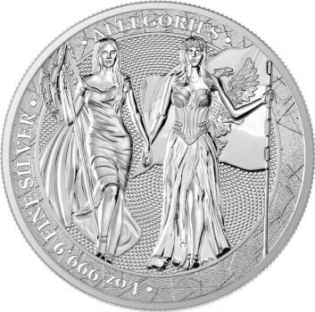 Germania Mint - The Allegories Columbia & Germania 1 Oz 999 Silber 5 Mark