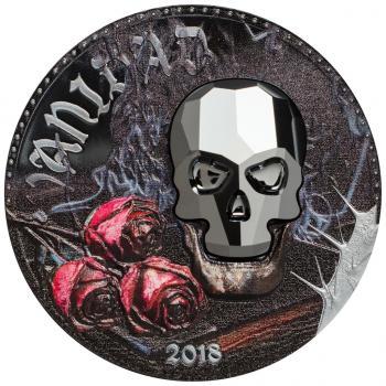 Equatorial Guinea - Crystal Skull - Vanidad Vanity - 1000 Francs - 2018  -1 Oz Silber