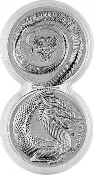Germania Beasts Fafnir Doppelkapsel 2 x 1oz Silver BU 2020 Silber