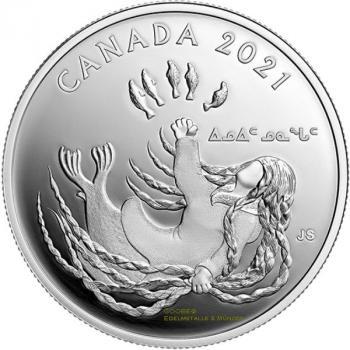 Kanada 20 Dollar Generations (1) Inuit Nunangat 1 Oz Silver PP 2021 Canada