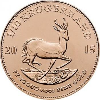 Krugerrand Gold 1/10 Oz  3.11g 2021