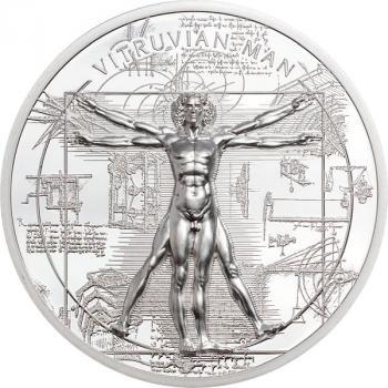 Cook Island - 5 CID X Ray Vitruvian Man 1 Oz Silber 2021