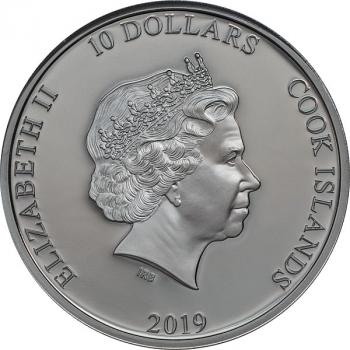 "Cook Islands 10 $ - 2 Oz Silber - AC/DC ""The Razors Edge"" - 2019"