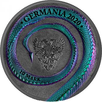 Mobile Preview: Germania Beasts Fafnir Geminus 2 oz Silver BU Limited Edition 2020 Silber