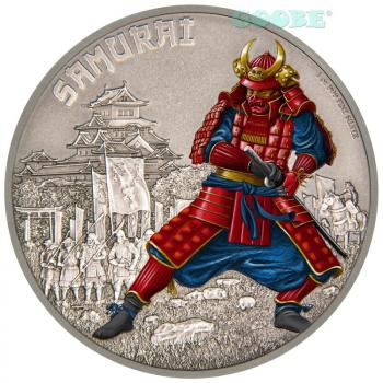 Niue - Warriors of History - Samurai 2016  2 Dollar Silver/Silber PP Coin