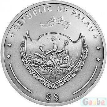 Preview: Palau 5 Dollar 2013