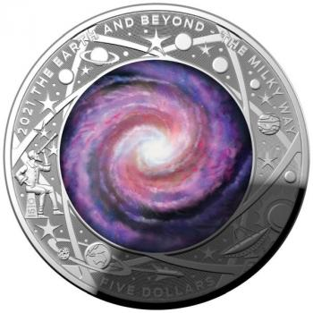 Australien 5 $ Earth & Beyond  The Milky Way Milchstraße 1 Oz Silber PP 2021