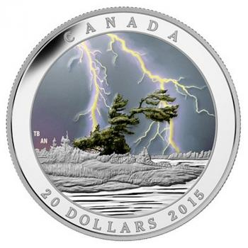 "Kanada ""Weather Phenomenon"" 20 Dollar 2015  Effektmünze"
