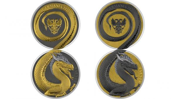 Germania Beasts Fafnir Geminus  2 x 1 oz Silver BU Limited Edition