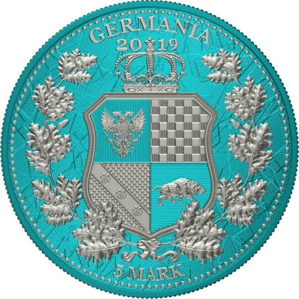 Germania 5 Mark Germania & Britannia - coloured Design - Seawave